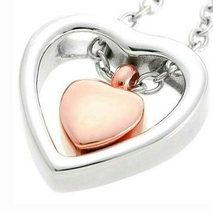 Double Heart Memorial Urn Necklace